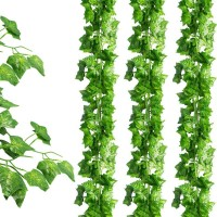 JPSOR 24 Pack (79 Inches Each) Fake Ivy Artificial Ivy Leaves Greenery Garlands Hanging for Wedding Party Garden Wall Decoration