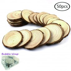 Good Lucky 50PCSWS Wood Slices, 50 Pieces, Wooden