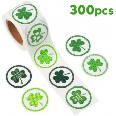 JPSOR 300pcs St. Patrick's Day Stickers, 8 Style Shamrock Leprechaun Hat Lucy for Party Favors Decorations